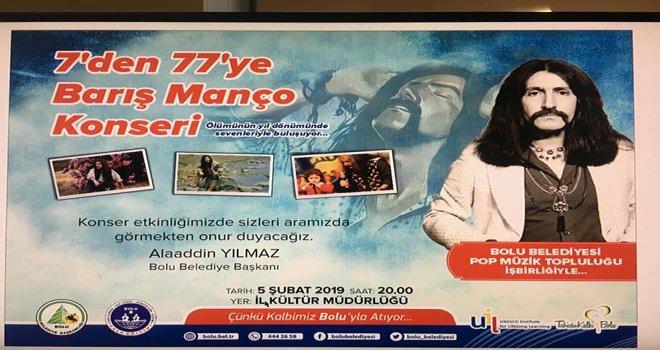 '7'den 77'ye Barış Manço' Konserine tüm müzikseverler davetli