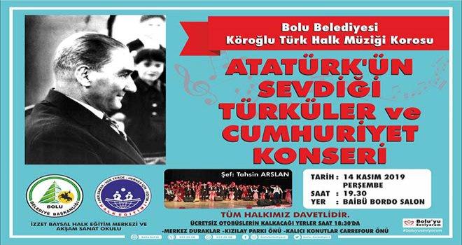 Atatürk en sevdiği türkülerle anılacak