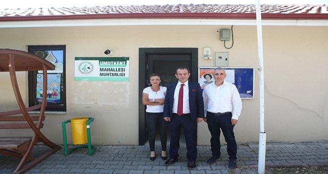 Belediye Başkanı Tanju Özcan'dan 3 mahalle muhtarına ziyaret