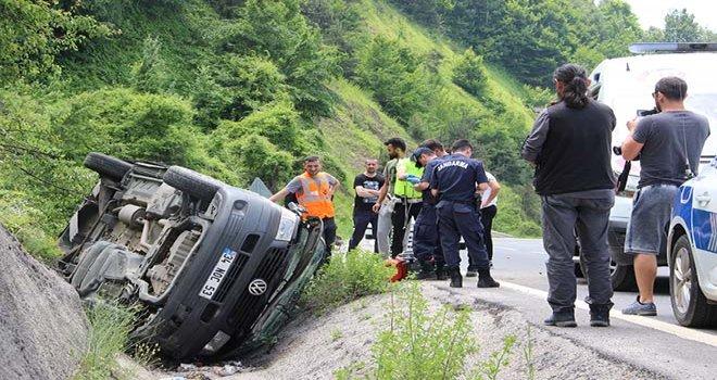 Bolu Dağında kaza: 1 ölü, 3 yaralı