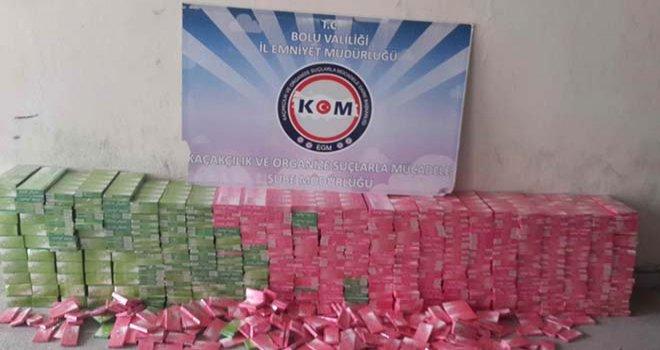 Bolu'da kaçak sigara operasyonu…..