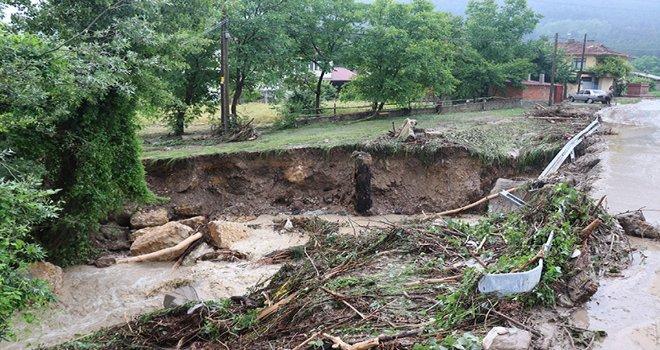Bolu'da, metrekareye 32 kilo 400 gram yağmur yağdı