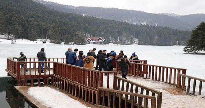 Bolu'da, yarıyıl tatilinde turizm merkezlerine 145 bin tatilci geldi
