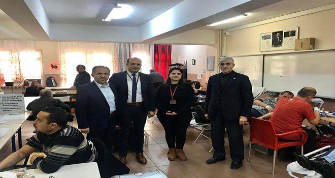 Kan bağışı kampanyasına yoğun bir katılım oldu ....