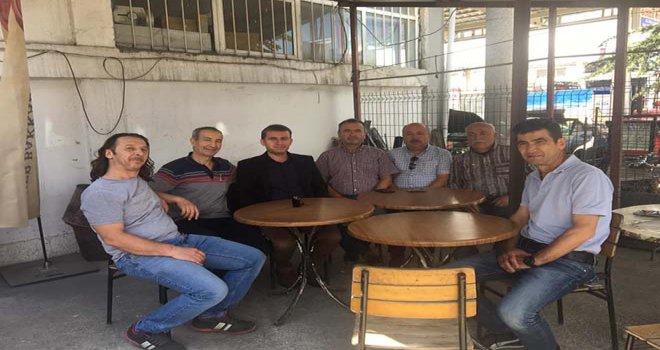 Türkoğlu ve CHP heyeti Sanayi esnaflarını ziyaret etti