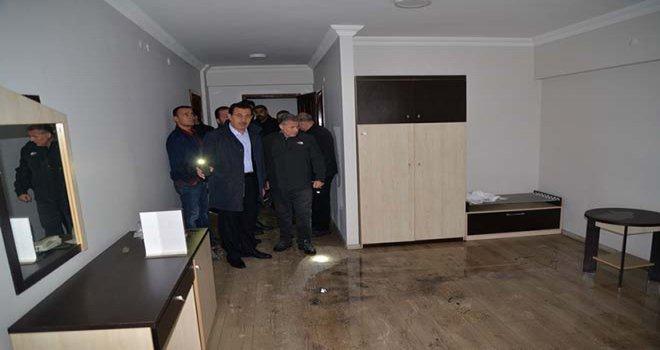 Vali Ümit, Bolu Polisevi'nde İncelemelerde Bulundu