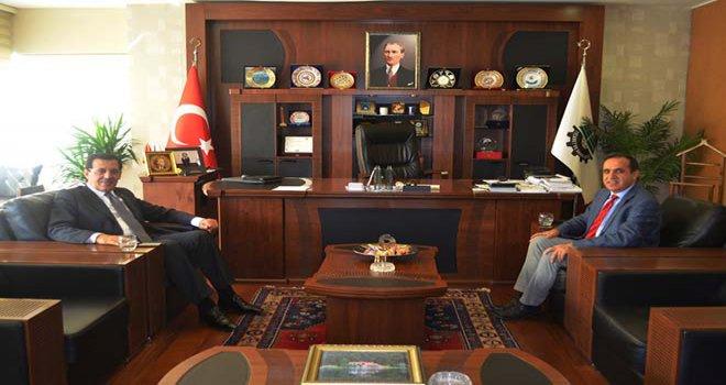 VALİ ÜMİT'TEN TSO BAŞKANI ATEŞ'E ZİYARET